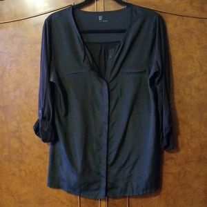 NY&Co black 3/4 sleeve top